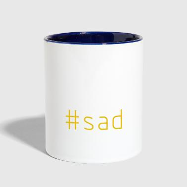 #sad - Contrast Coffee Mug