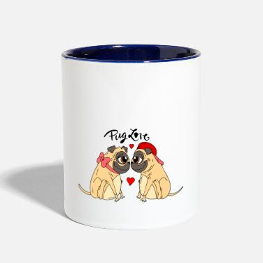 Original pack of lovely pugs 1 - Contrast Coffee Mug