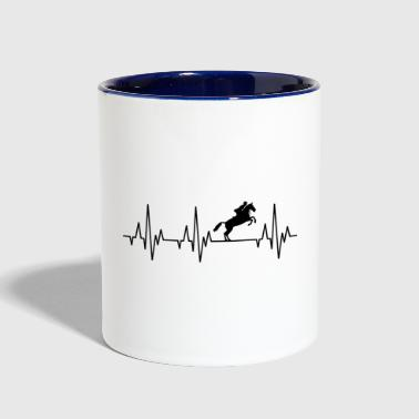 Heartbeat Horses Riding Harness Racing Equitation - Contrast Coffee Mug