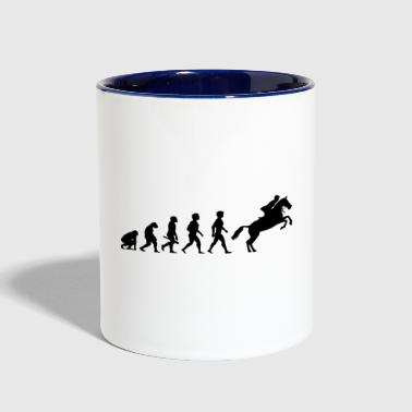 Evolution Horses Riding Harness Racing Equitation - Contrast Coffee Mug