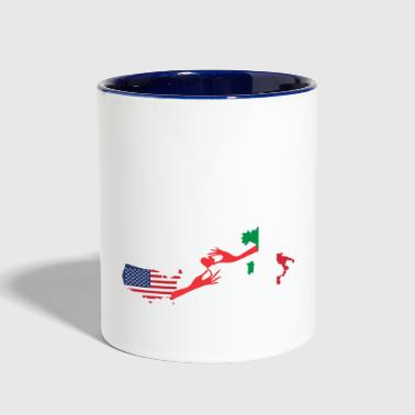 Knows No Distance Mother & Son Love Knows No Distance US & Italy - Contrast Coffee Mug