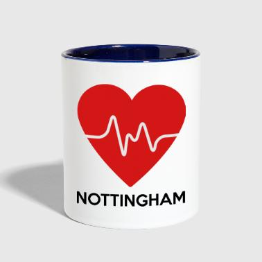 Heart Nottingham - Contrast Coffee Mug