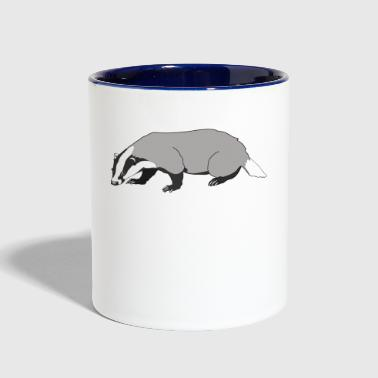 badger - Contrast Coffee Mug