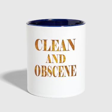 Clean and Obscene words3 - Contrast Coffee Mug
