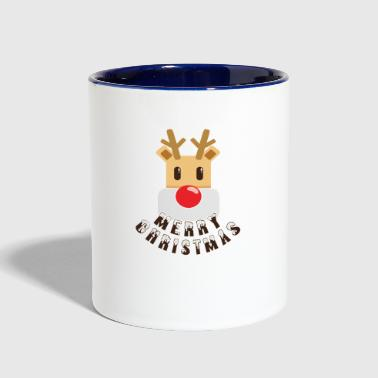 Rudolf red-nosed reindeer - Contrast Coffee Mug