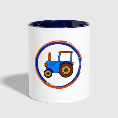 Toy blue toy tractor / toy tractor - Contrast Coffee Mug