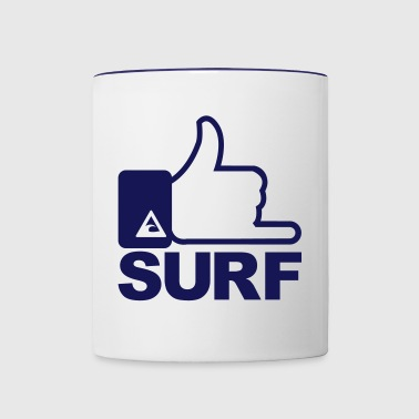 Surf surfing - Contrast Coffee Mug