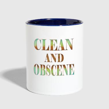 Obscene Clean and Obscene words4 - Contrast Coffee Mug