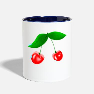 Wet Wet Cherry - Contrast Coffee Mug