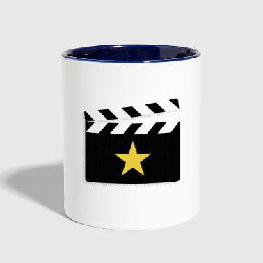 Movie Star Clapperboard Design for Film Lovers - Contrast Coffee Mug