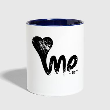 LOVE ME - Contrast Coffee Mug