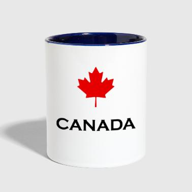 maple leaf - Contrast Coffee Mug