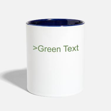 Green Text green text - Two-Tone Mug
