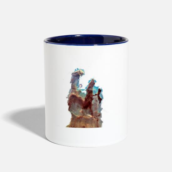 Esa Mugs & Drinkware - Pillars of creation - Two-Tone Mug white/cobalt blue