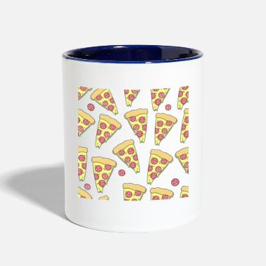 Pizza Pizza Lovers All Over Print Pepperoni Pizza - Contrast Coffee Mug