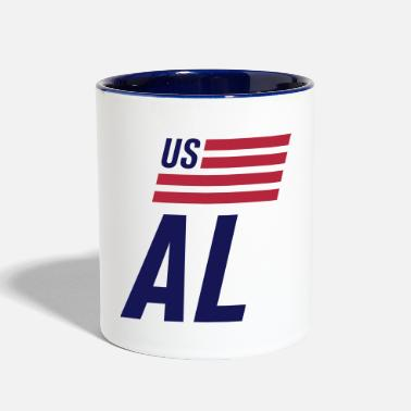 US flag Alabama - Contrast Coffee Mug