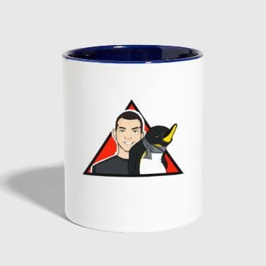 Arnold with Pingu - YouTuber - Contrast Coffee Mug