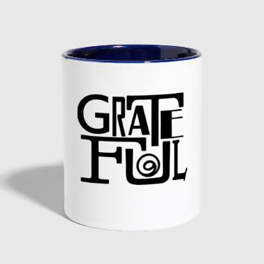 Grateful - Contrast Coffee Mug