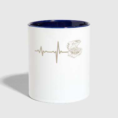 gift heartbeat jewelry chest - Contrast Coffee Mug