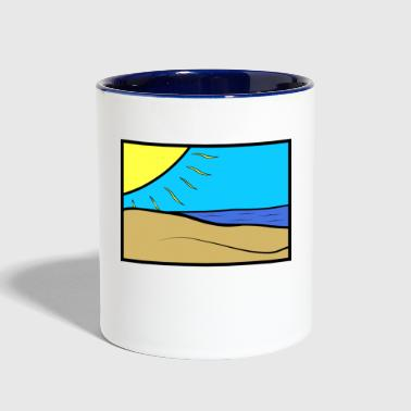 Beach - Contrast Coffee Mug