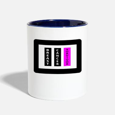 Breast cancer survivor Black/Pink - Contrast Coffee Mug