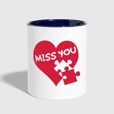 Puzzle Miss You / Love / Puzzle - Contrast Coffee Mug