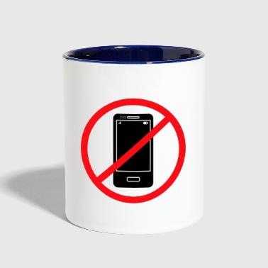 Vector no mobile phones sign - Contrast Coffee Mug