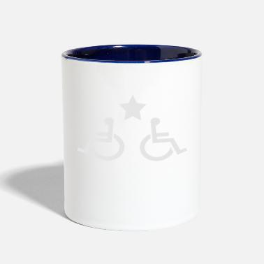 Disabled disability b - Contrast Coffee Mug