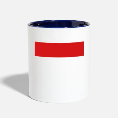 Quadrat Red Stripe Quadrat - Contrast Coffee Mug