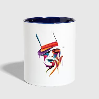 drawing - Contrast Coffee Mug