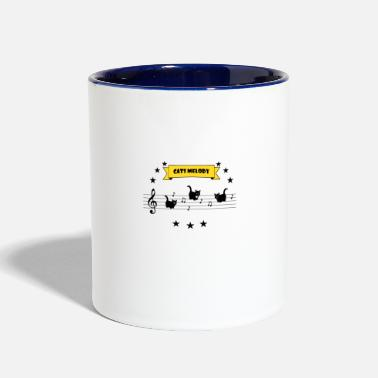 Musical cats music - Two-Tone Mug