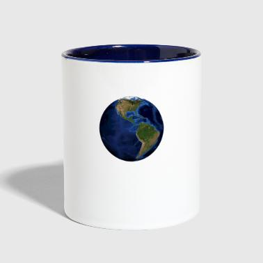 world globe North / South America - Contrast Coffee Mug
