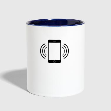 Vibrating mobile phone - Contrast Coffee Mug
