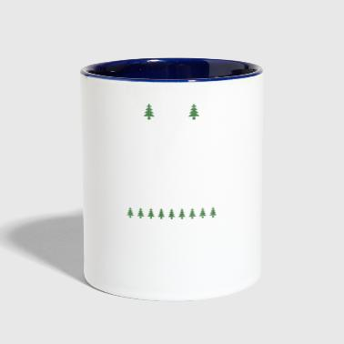 Space Christmas Ugly Sweater Ugly - Contrast Coffee Mug