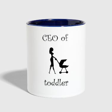Ceo of the little toddler! - Contrast Coffee Mug