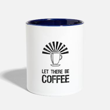 Pun let there be coffee.funny religious pun - Two-Tone Mug