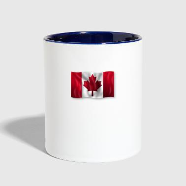 canadian flag - Contrast Coffee Mug