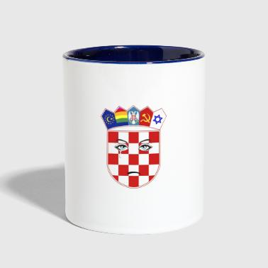 Wounded Croatia - Contrast Coffee Mug