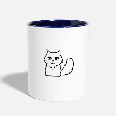 Animals Cute Anime Cat - Two-Tone Mug