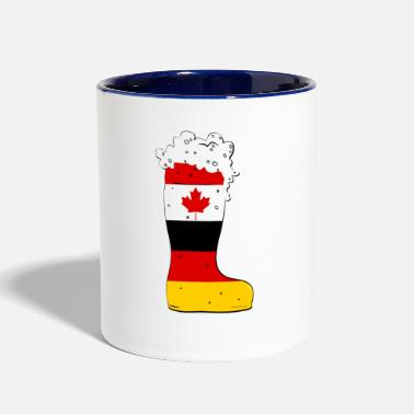 German German - Canadian Beer Boot - Contrast Coffee Mug