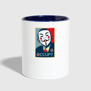 Occupy Anonymous occupy - Contrast Coffee Mug