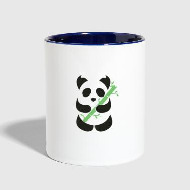 Bamboo Panda with bamboo - Contrast Coffee Mug