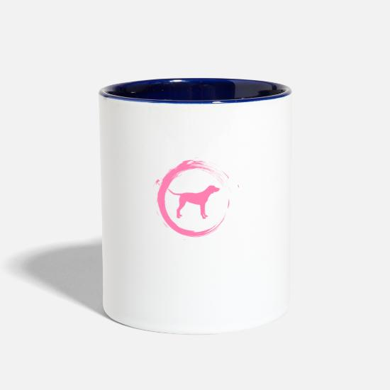 Dog Lover Mugs & Drinkware - Labrador - Two-Tone Mug white/cobalt blue