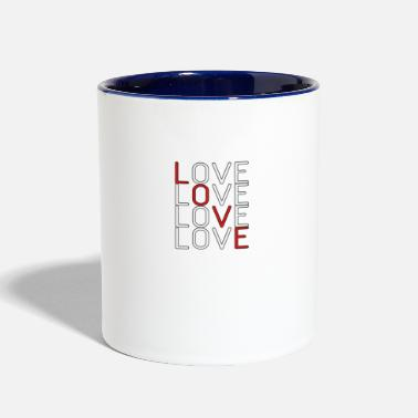 Lovely Love Love Love Love - Two-Tone Mug