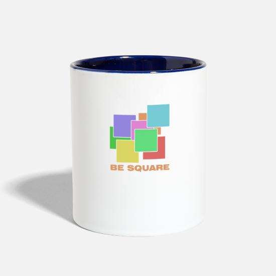 Red Mugs & Drinkware - Be square colorful - Two-Tone Mug white/cobalt blue