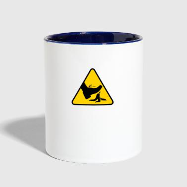 Slip Risk Of Slipping With A Banana - Contrast Coffee Mug