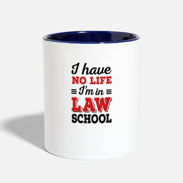 Back To School law school - Contrast Coffee Mug