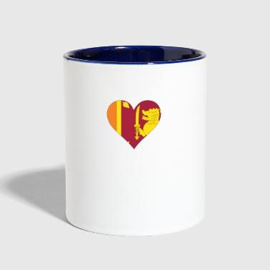A Heart For Sri Lanka - Contrast Coffee Mug