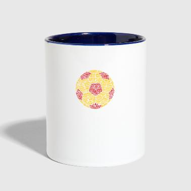 Soccer Ball Typography - Contrast Coffee Mug