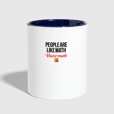 Math People are like math - Contrast Coffee Mug